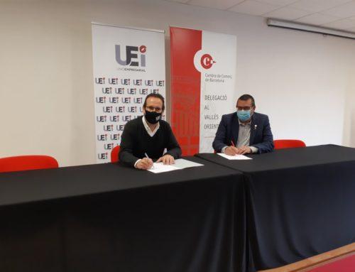 La Unió Empresarial y la Cambra de Comerç del Vallès Oriental suman fuerzas en beneficio de las empresas de la comarca